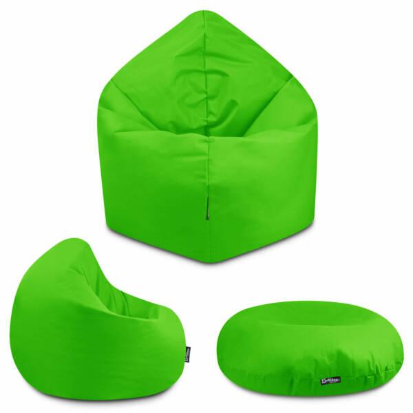 Sitzsack 2in1 - Apfelgrün, 100 cm Durchmesser ca