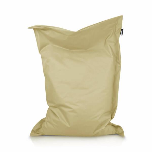 Sitzsack Rechteck - Beige, 100 x 70 cm 1