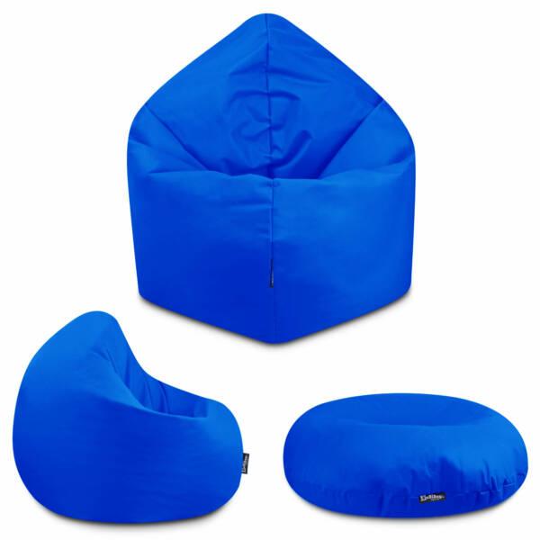 Sitzsack 2in1 - Blau, 70 cm Durchmesser ca