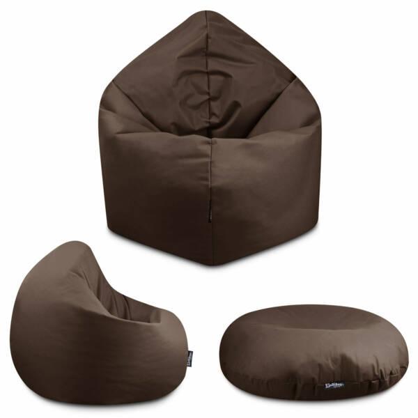 Sitzsack 2in1 - Braun, 125 cm Durchmesser ca