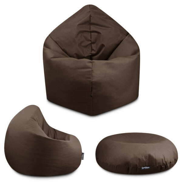 Sitzsack 2in1 - Braun, 70 cm Durchmesser ca