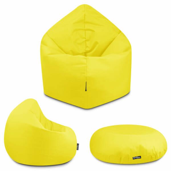 Sitzsack 2in1 - Gelb, 100 cm Durchmesser ca