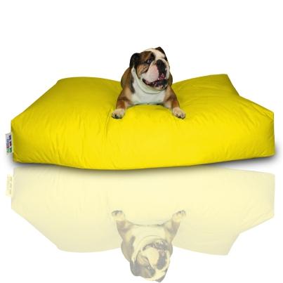 Hundekissen - Gelb, 100 x 60 x 20 cm 1