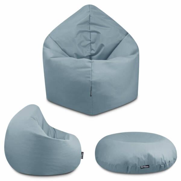 Sitzsack 2in1 - Grau, 125 cm Durchmesser ca