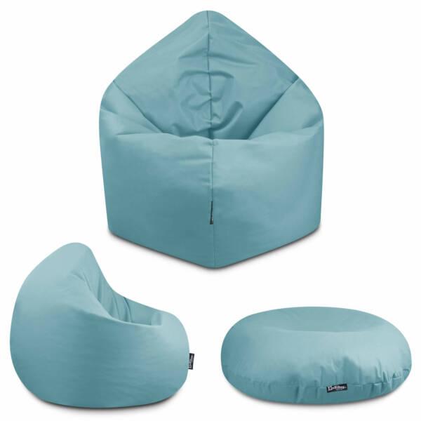 Sitzsack 2in1 - Hellblau, 100 cm Durchmesser ca