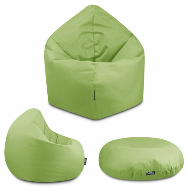 Sitzsack 2in1 - Neongrün, 70 cm Durchmesser ca