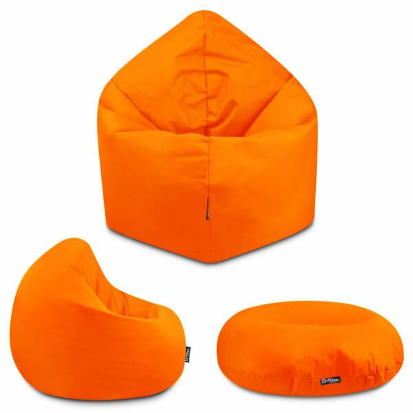 Sitzsack 2in1 - Orange, 70 cm Durchmesser ca