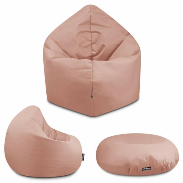 Sitzsack 2in1 - Rot, 70 cm Durchmesser ca