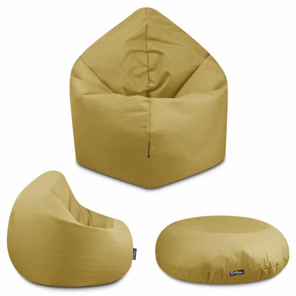 Sitzsack 2in1 - Schwarz, 70 cm Durchmesser ca