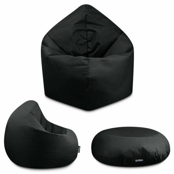 Sitzsack 2in1 - Weinrot, 100 cm Durchmesser ca