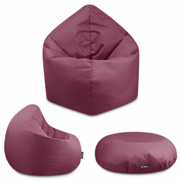 Sitzsack 2in1 - Khaki, 70 cm Durchmesser ca